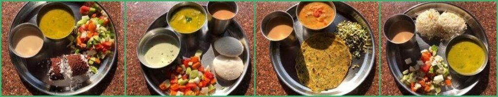 Food at AYM Yoga School Goa