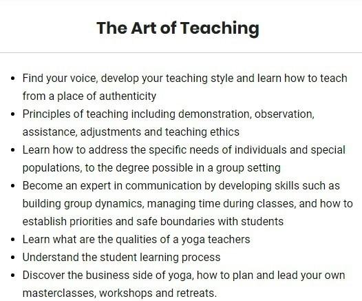 Syllabus of Art of Teaching