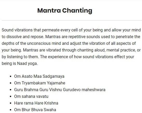 Syllabus of Art of Mantra
